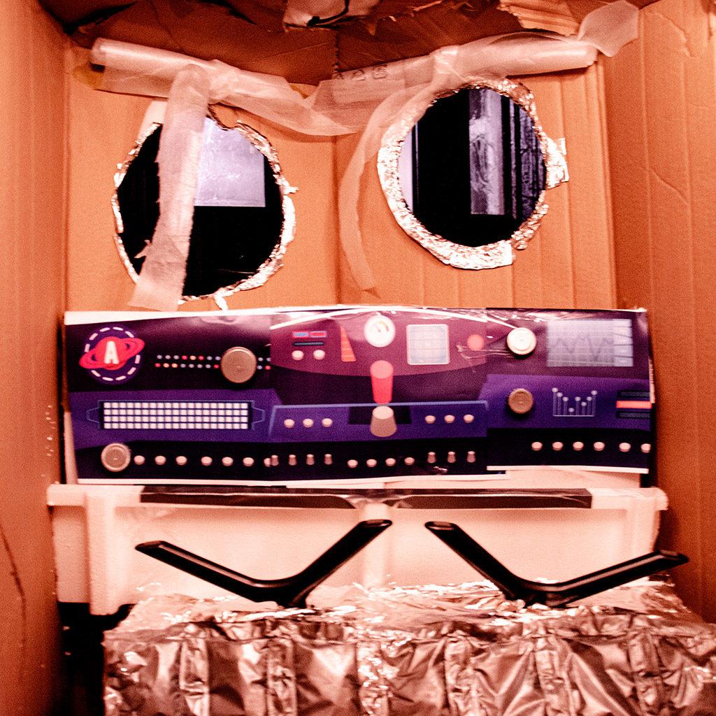 Raumschiff basteln: Fertig