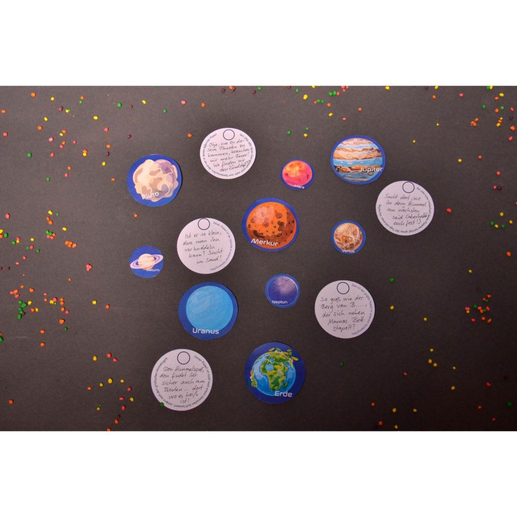 Planeten-Rätsel am Start