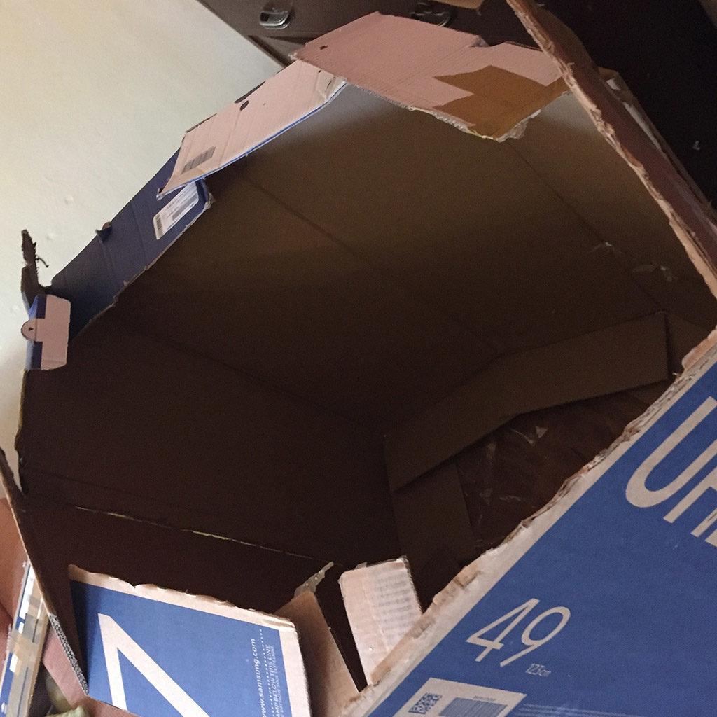 Raumschiff basteln: Das Dach vorbereiten