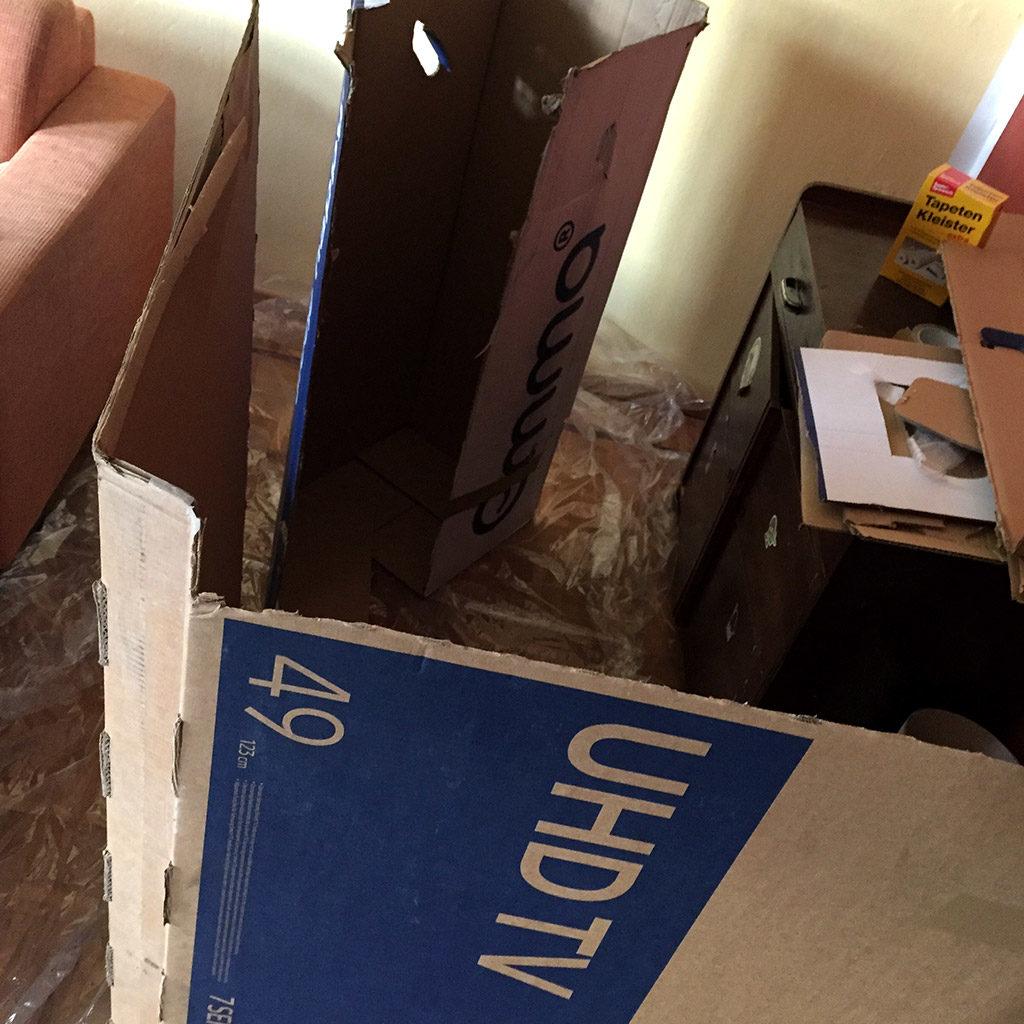 Kartons vorbereiten