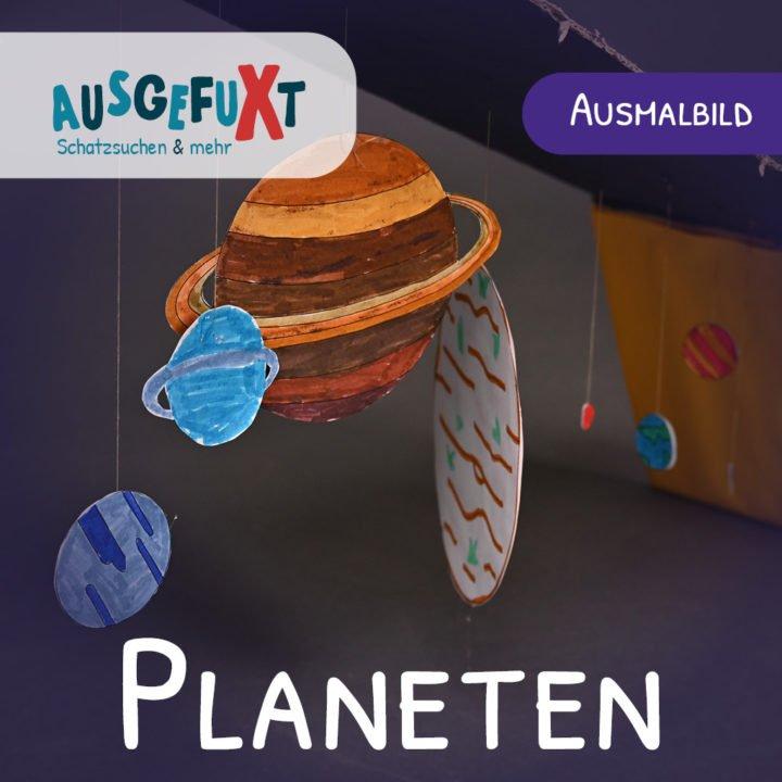 Planeten-Ausmalbild: Kostenlose Druckvorlage