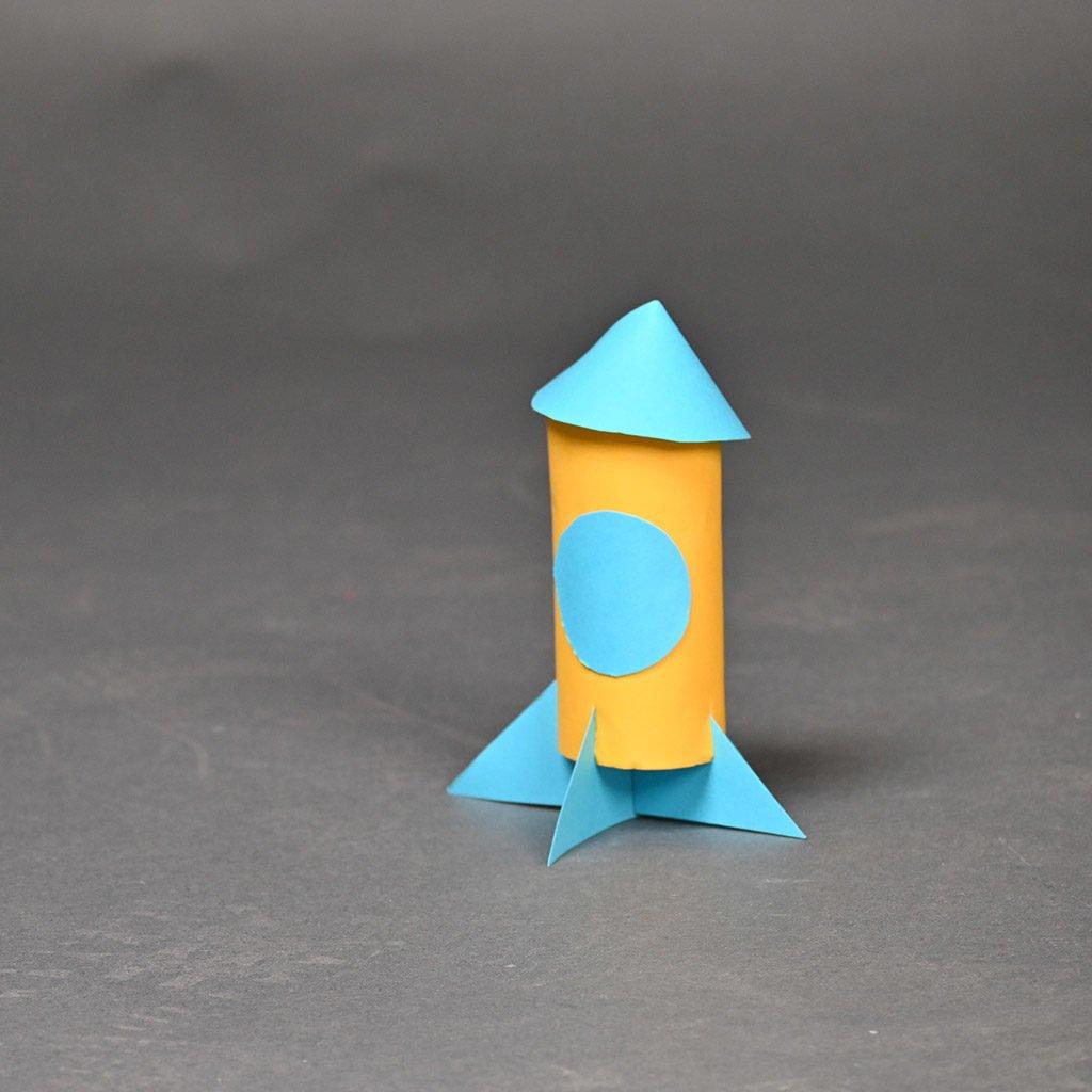 Rakete basteln: Fertig