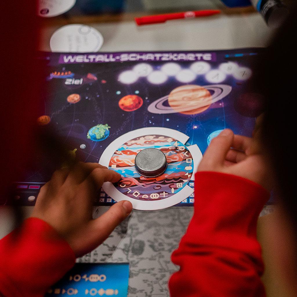 Schatzsuche zum Thema Weltraum: Das Rätsel am Jupiter