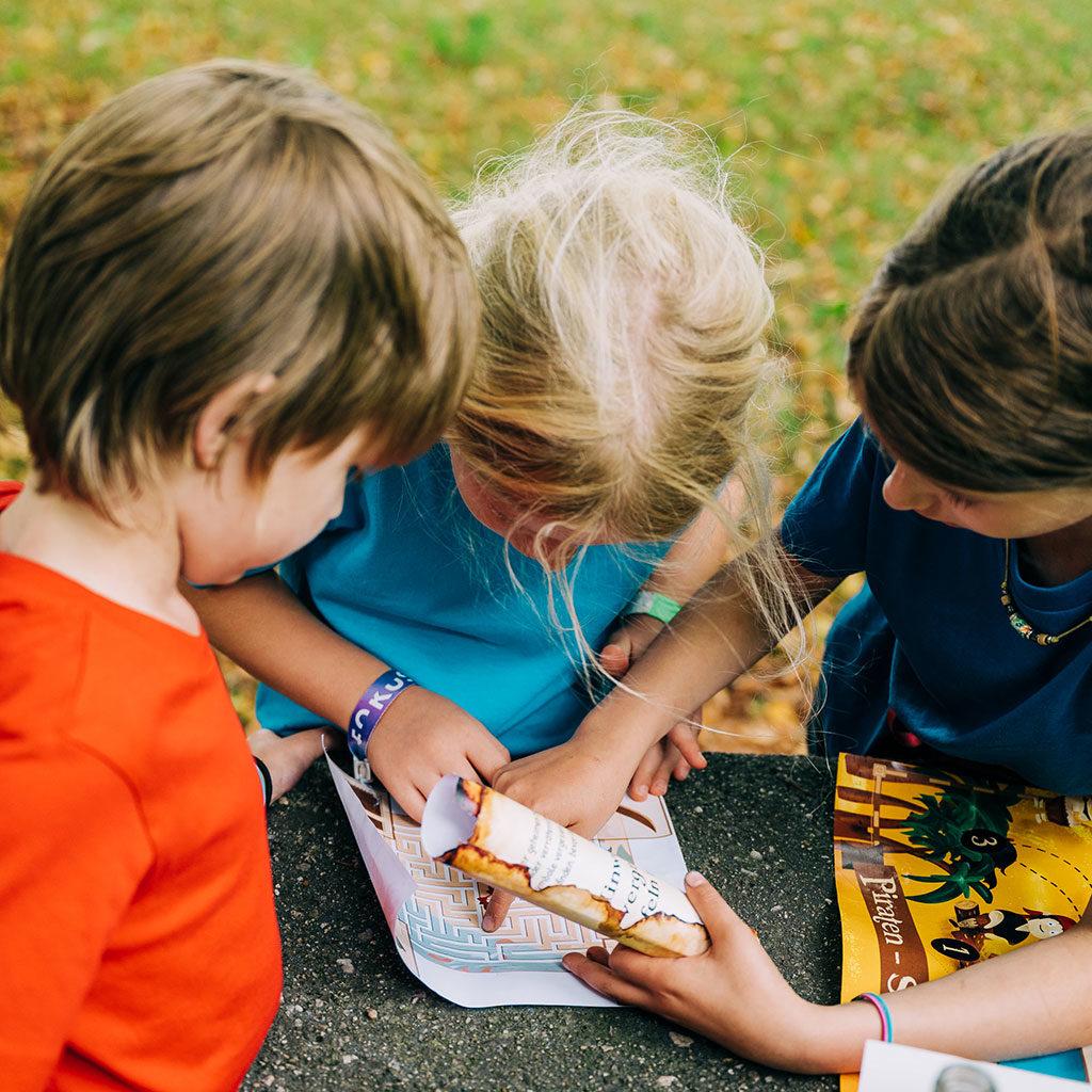 Die zweite Station der Schatzsuche zum Kindergeburtstag