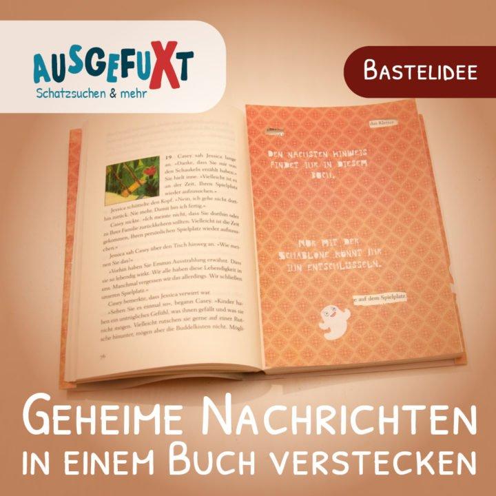 Geheime Nachrichten in einem Buch verstecken