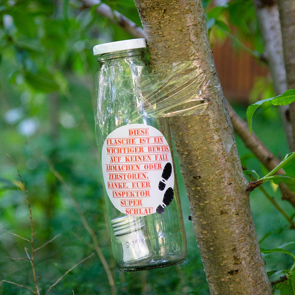 Flaschenrätsel für Detektive