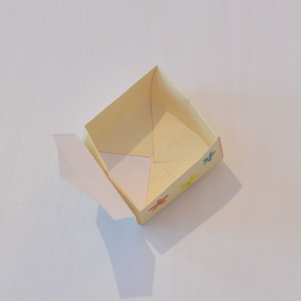 Schachtel basteln: Wände falten