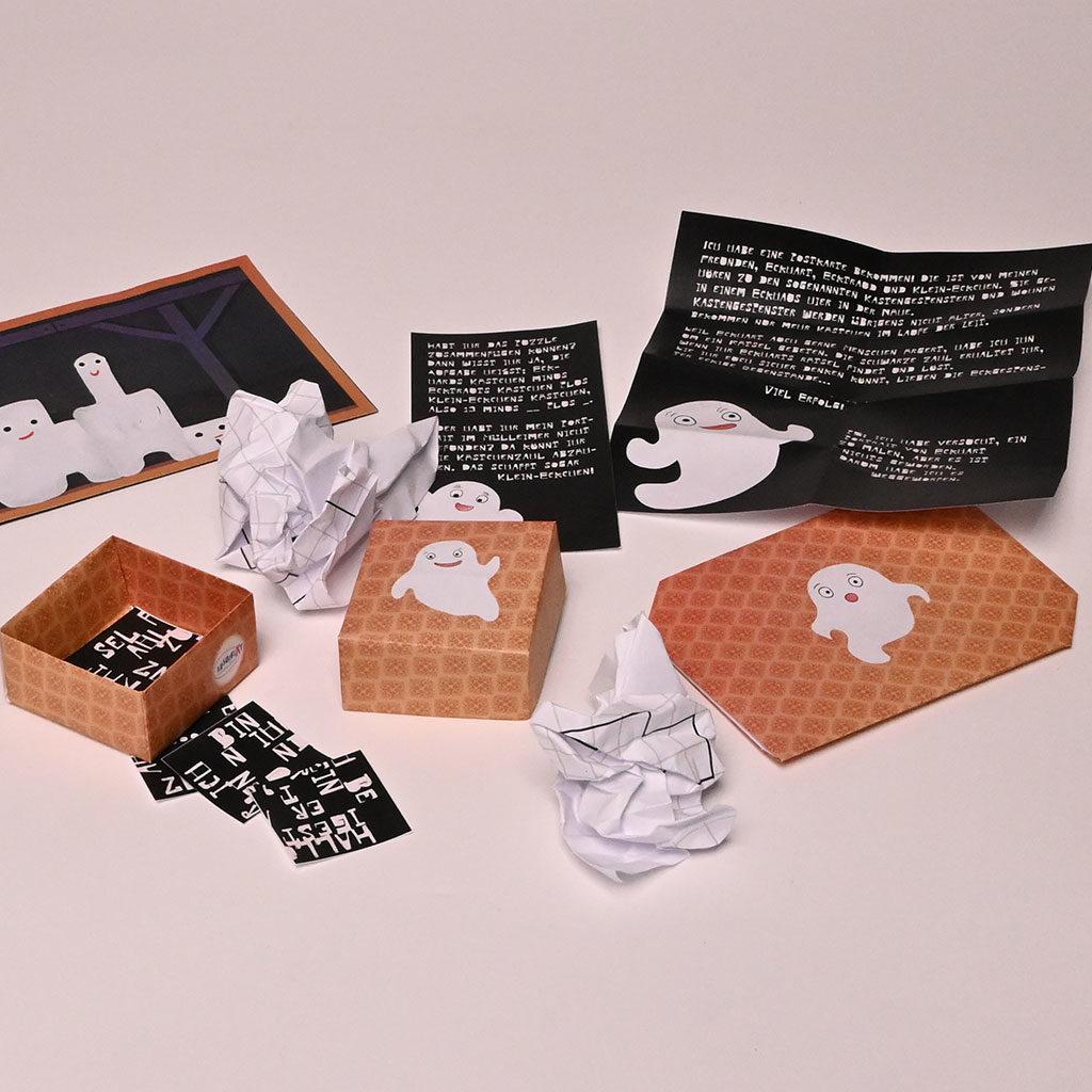 Schachtel falten - Für Schatzsuchen-Hinweise