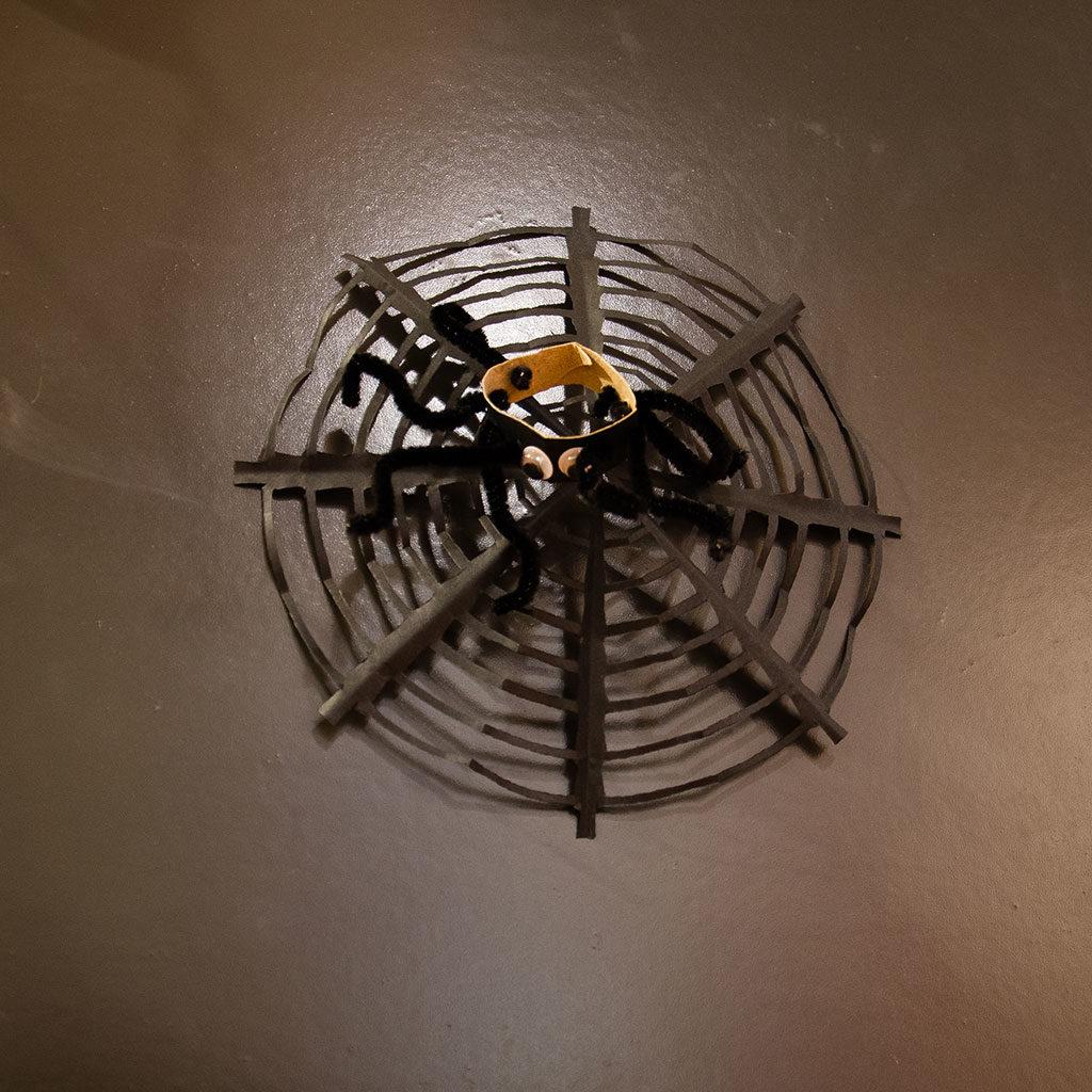 Spinnennetz basteln: Variante 1