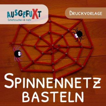 Spinnennetz basteln: Anleitung und Druckvorlage