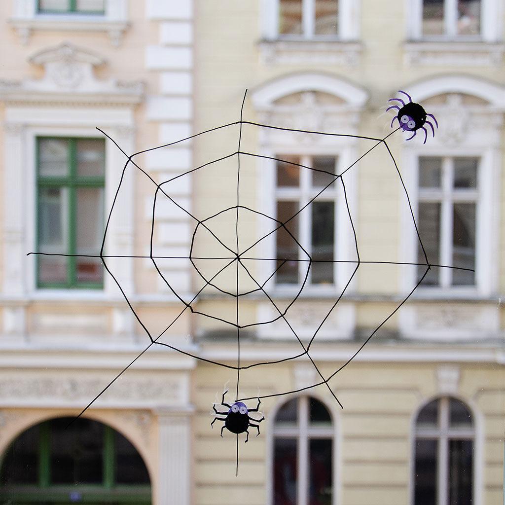 Spinnennetz basteln: Variante 3