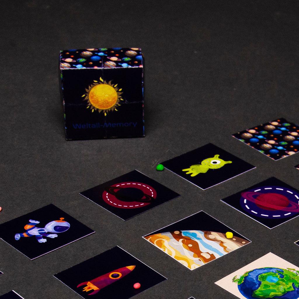 Weltall-Memory - Schachtel