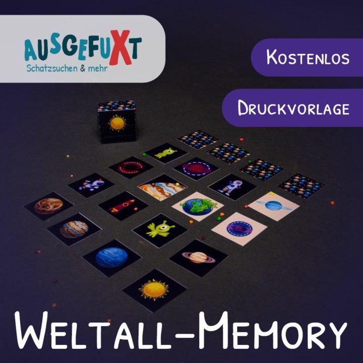 Weltall-Memory: Kostenlose Druckvorlage