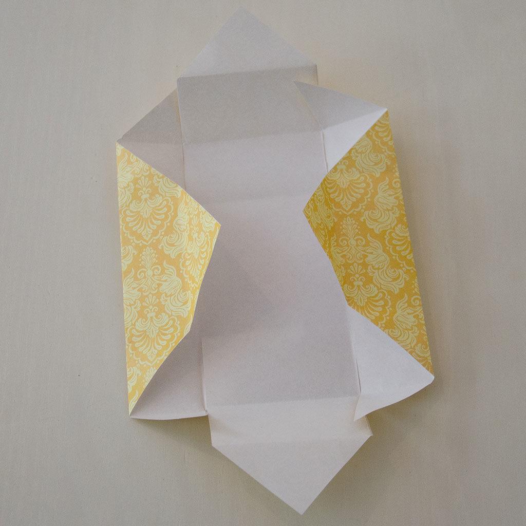 Papierschachtel falten: Die Schachtelwände vorbereiten