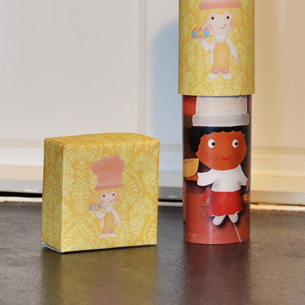Papierschachtel für eine Muffin-Schatzsuche