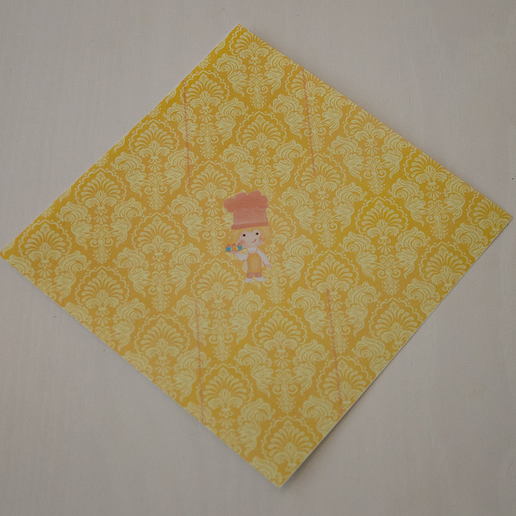 Papierschachtel falten: Schritt 1