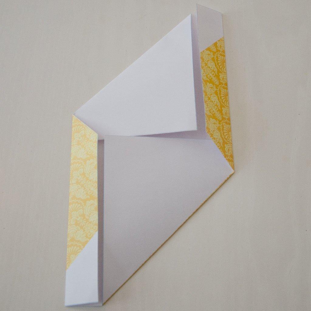 Briefumschlag falten: Rückseite