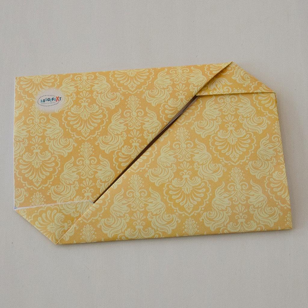 Fertig ist der Briefumschlag.