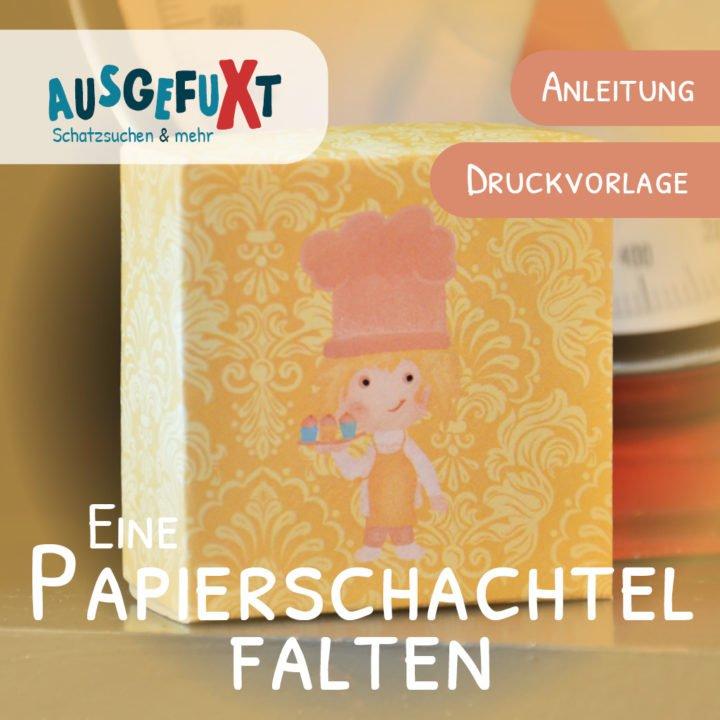 Papierschachtel falten: Anleitung und Druckvorlage