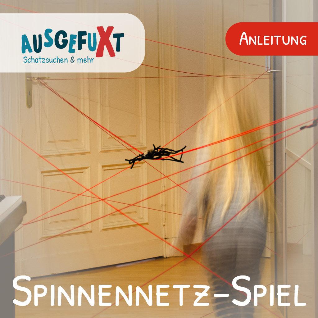 Spinnennetz-Spiel zum Detektiv-Kindergeburtstag