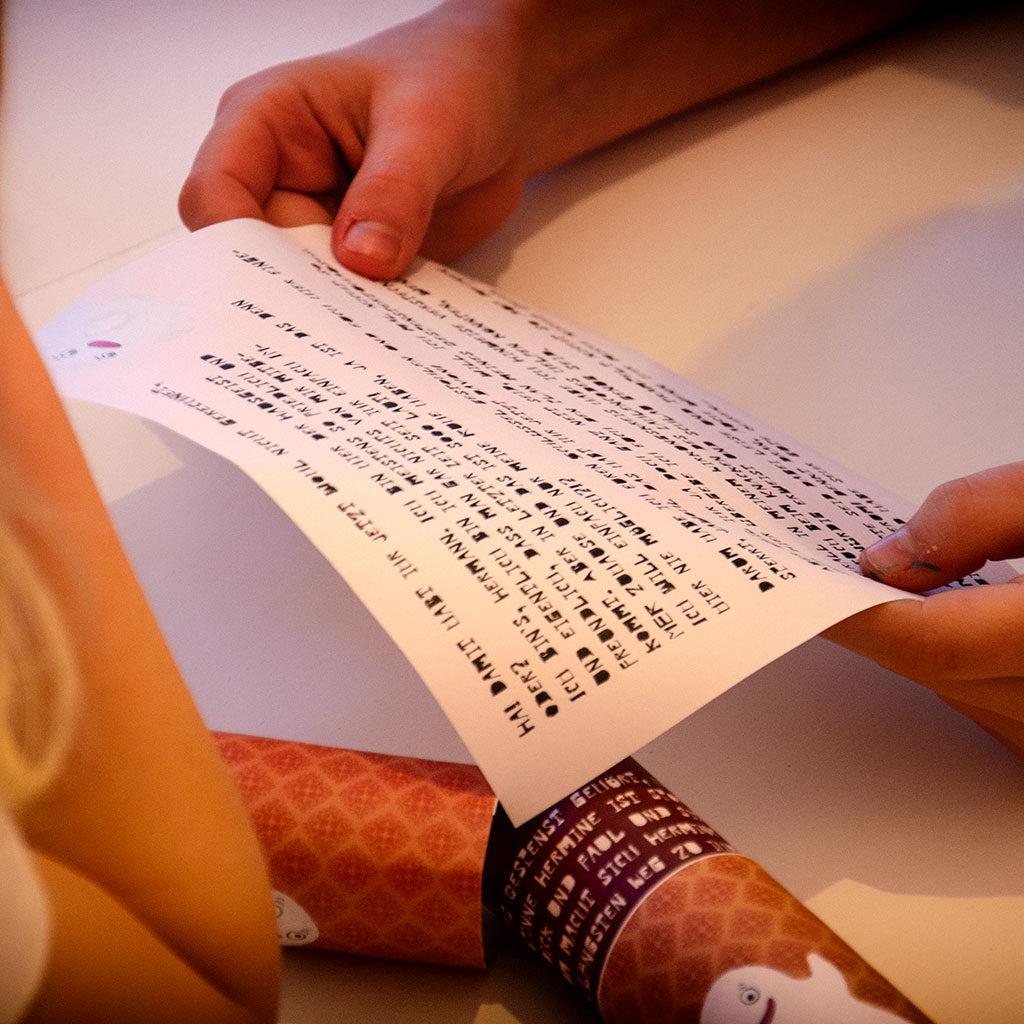 Der Brief am Start