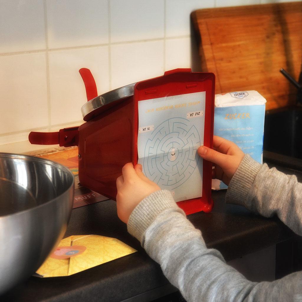 Muffins backen mit Kindern: Die Zutaten und Rätsel suchen