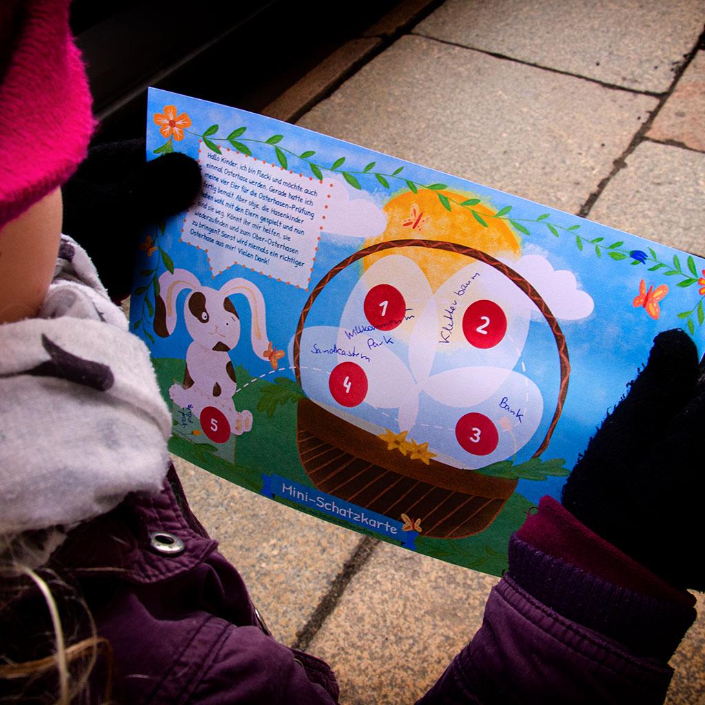 Die Mini-Oster-Schatzsuche: Die Hinweise zu den einzelnen Stationen