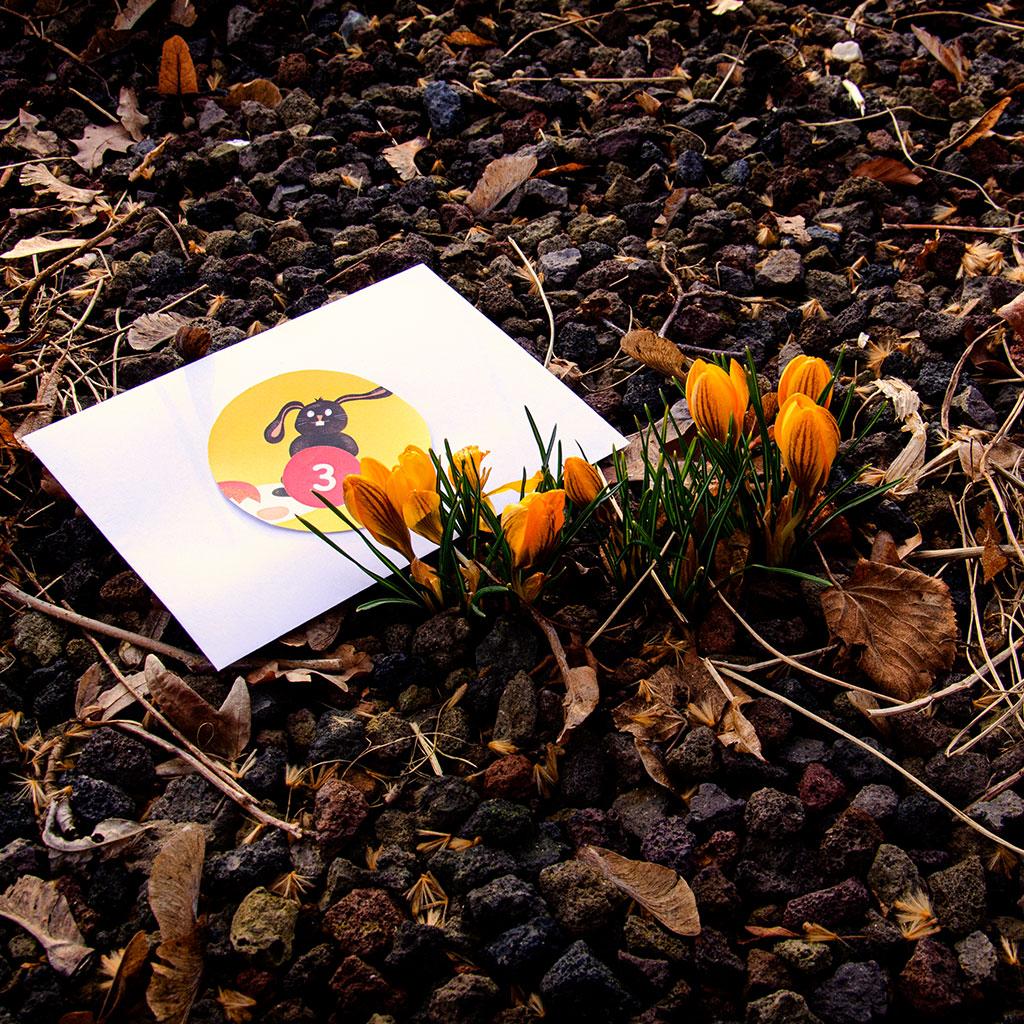 Die Mini-Oster-Schatzsuche: Die Verstecke