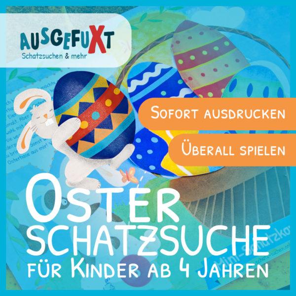 """Mini-Oster-Schatzsuche """"Die Osterhasen-Prüfung"""""""