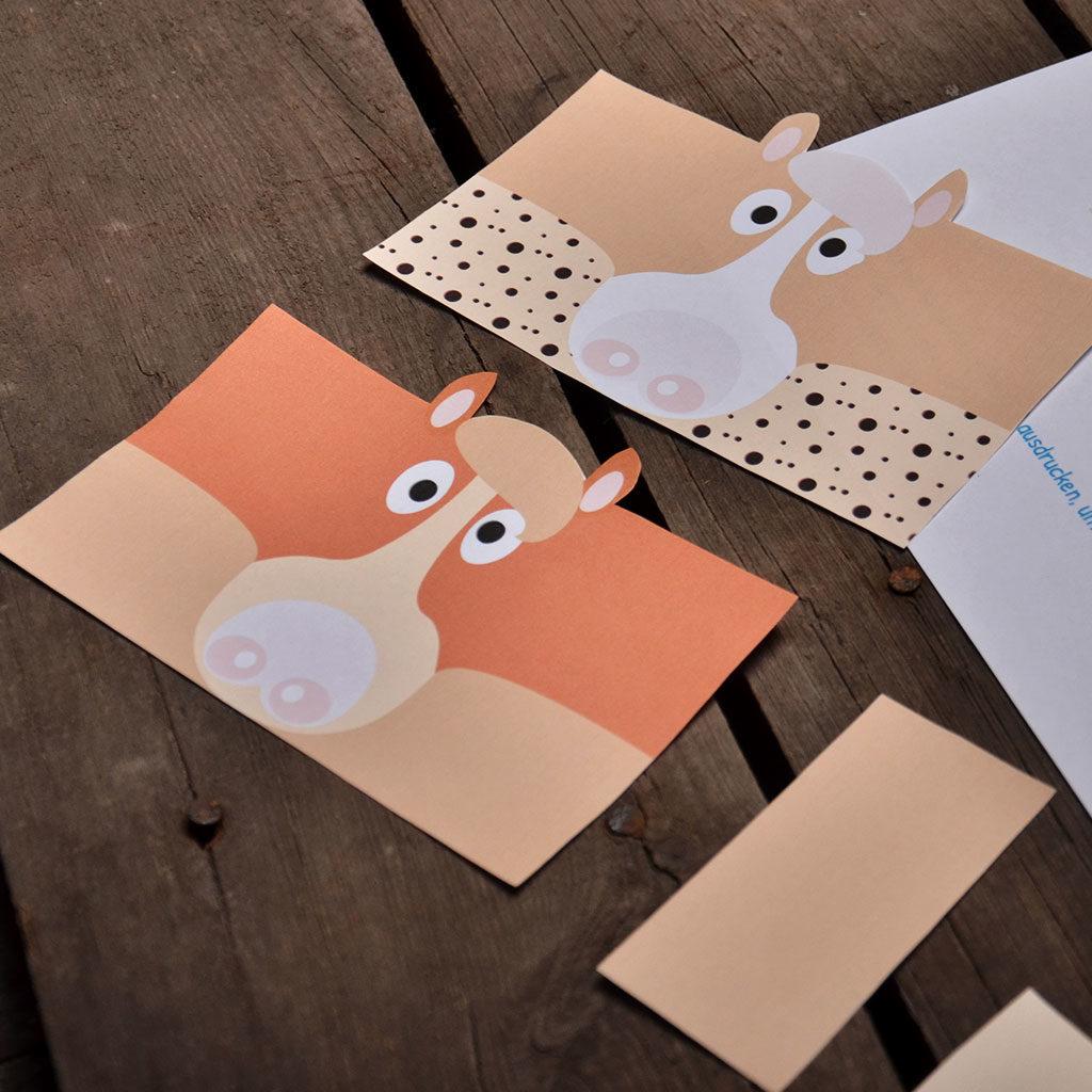 Einladungen zum Pferde-Geburtstag: Mähne basteln