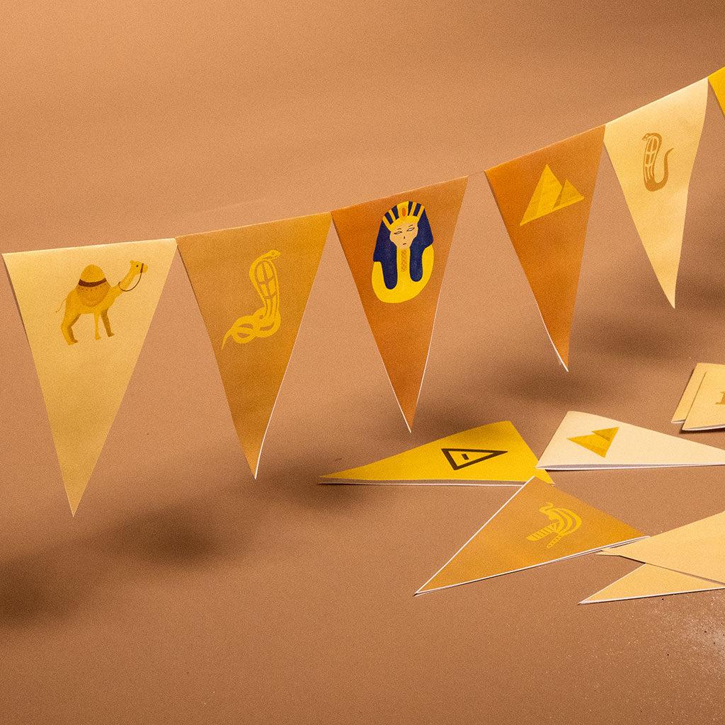 Symbole auf der Ägypten-Wimpelkette