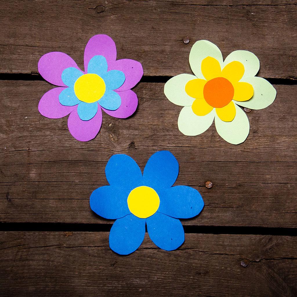 Blumen basteln: Variante 3 in verschiedenen Größen