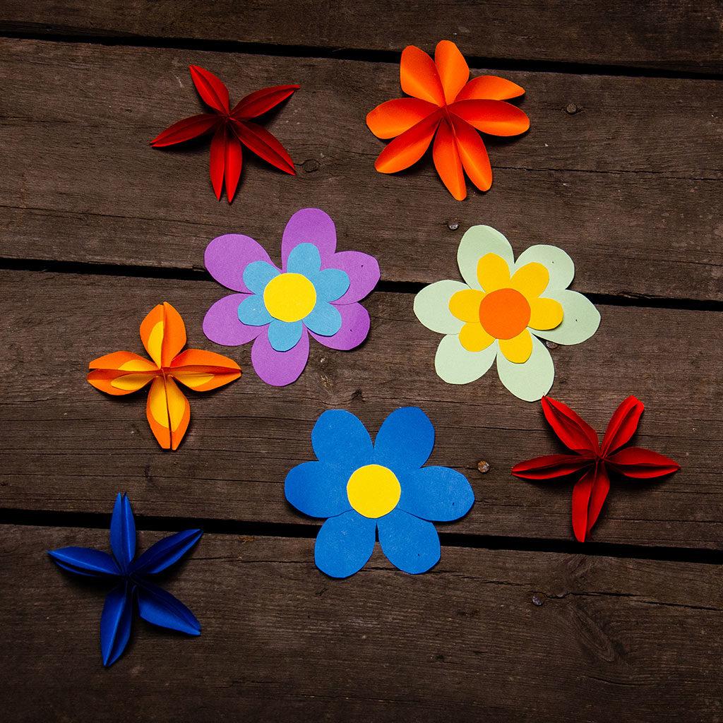Blumen basteln: Eine tolle Dekoration