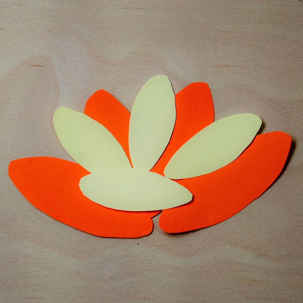 Blumen basteln: Variante 2