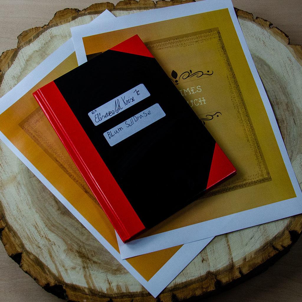 Einen Forschertagebuch-Umschlag basteln