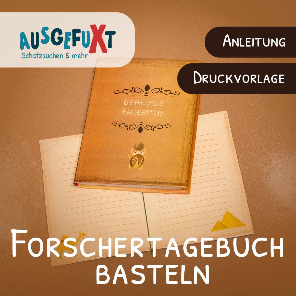 Forschertagebuch basteln - Anleitung und Druckvorlage