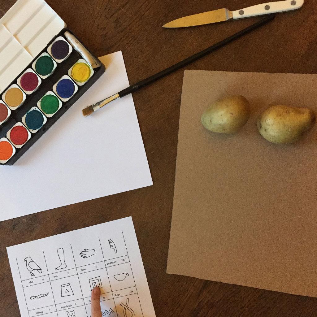 Material für den Kartoffeldruck