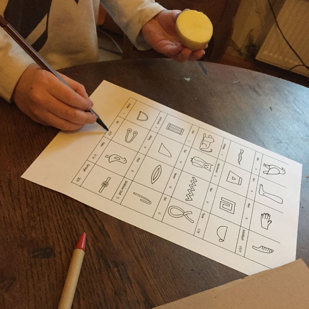 Hieroglyphe auswählen