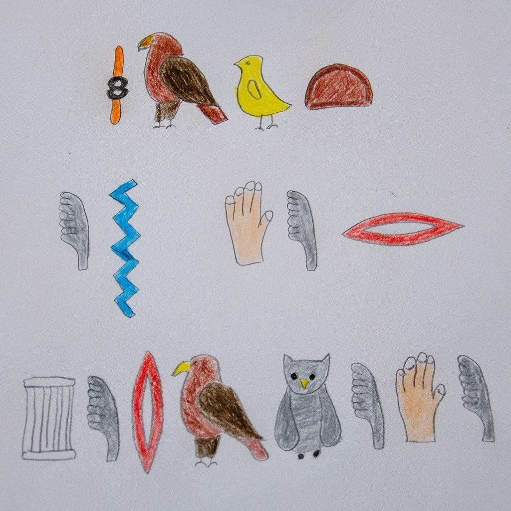 Schatzsuchen-Hinweise mit Hieroglyphen verschlüsseln