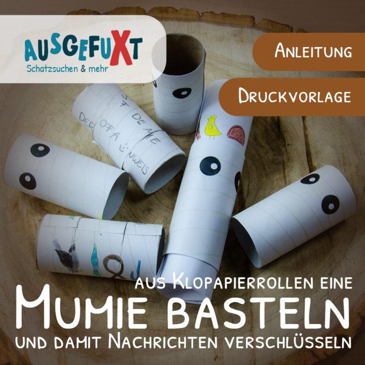 Mumien basteln: Druckvorlage und Anleitung