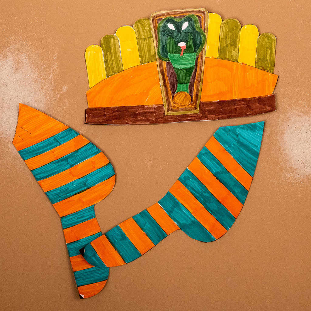 Tutanchamun-Maske basteln: Kreative Freiheit