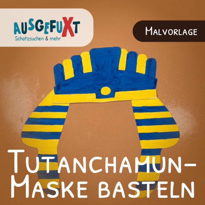 Tutanchamun-Maske basteln: Druckvorlage