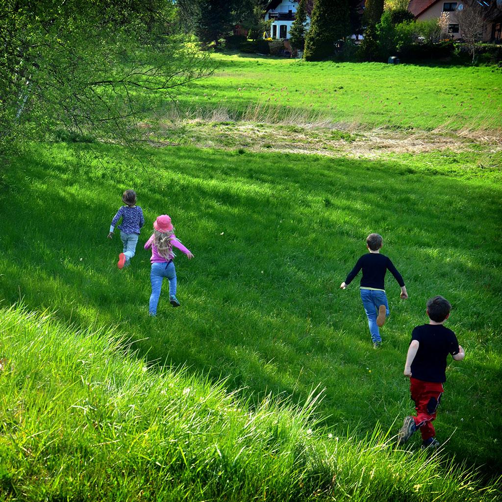Einhorn-Schatzsuche für größere und kleinere Kinder