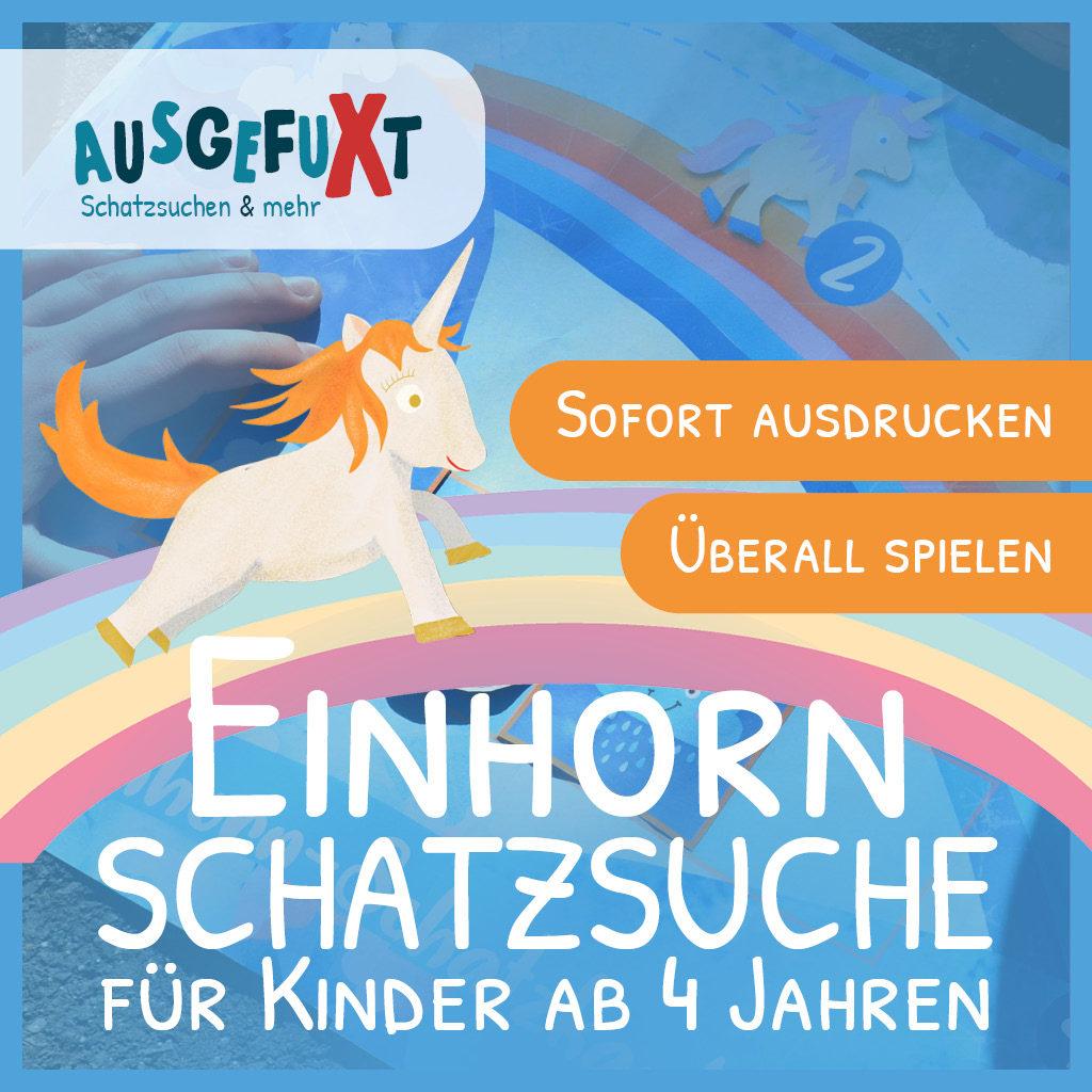 """Einhorn-Schatzsuche """"Im Regenbogen-Land"""""""