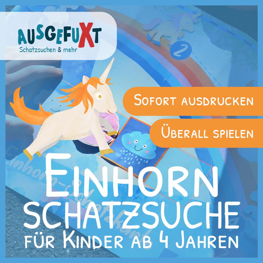 """Einhorn-Schatzsuche """"Im Einhorn-Land"""""""