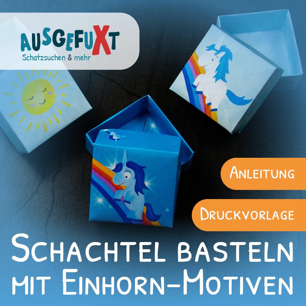 Kleine Schachtel basteln: Mit Einhorn-Motiv