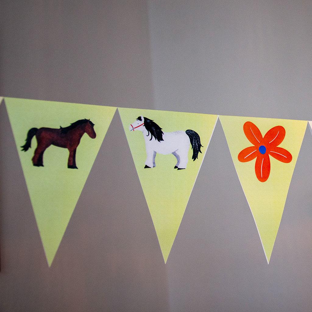 Pferde-Wimpelkette