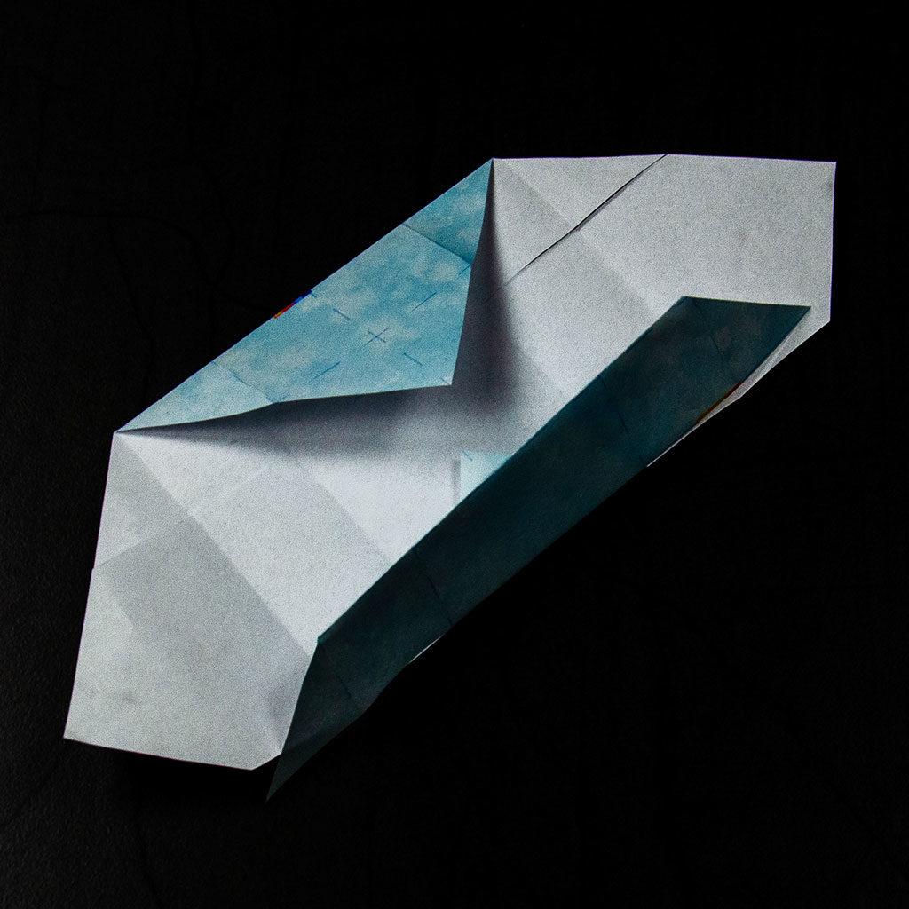Kleine Schachtel falten: Schritt 4