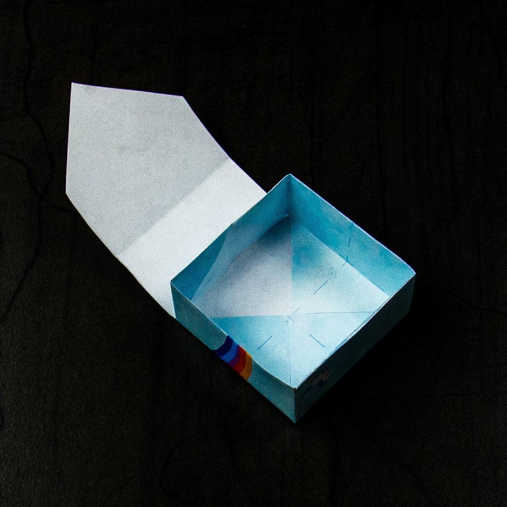Kleine Schachtel falten: die schmalen Ecken