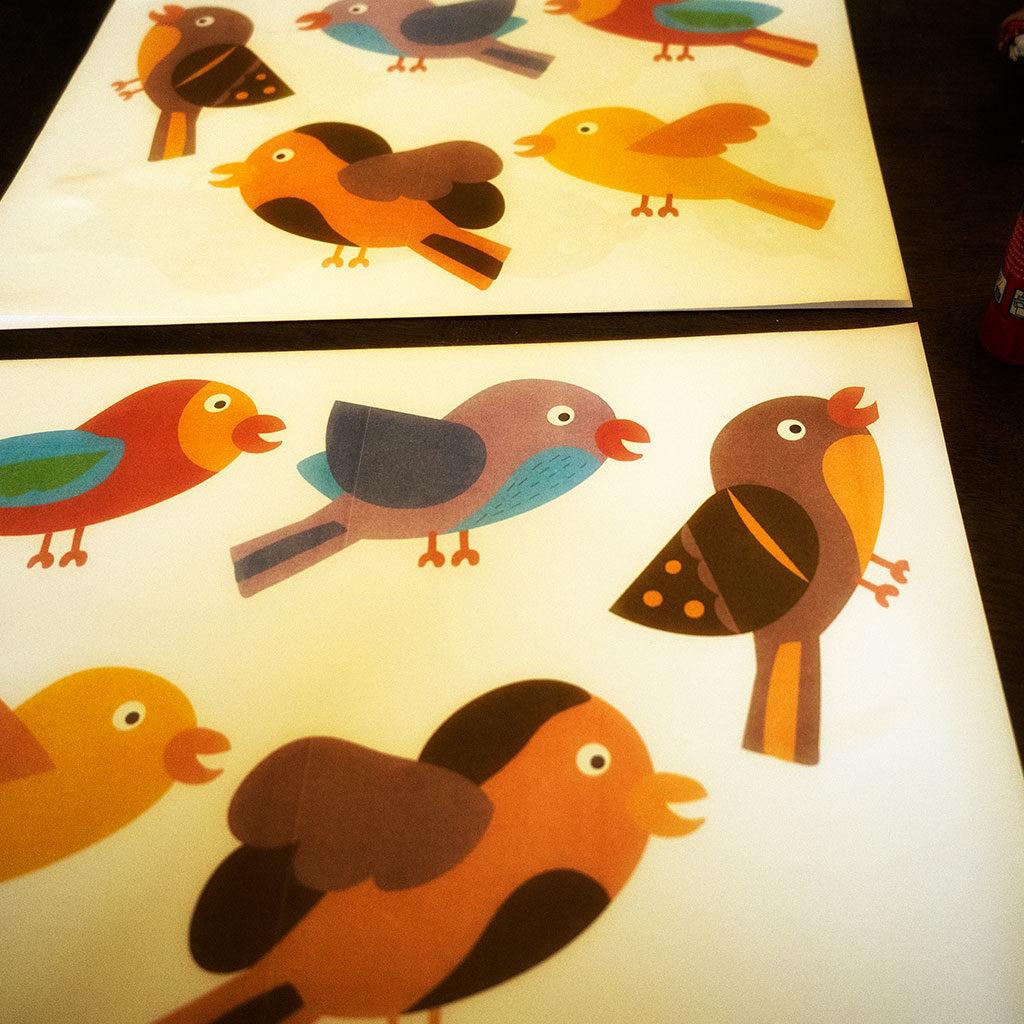 Druckvorlage zum Vögel basteln